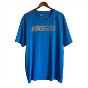 *3/$25* NIKE GOLF Soft Basic Casual Tee Shirt Top Blue